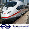 Het logo van NS International